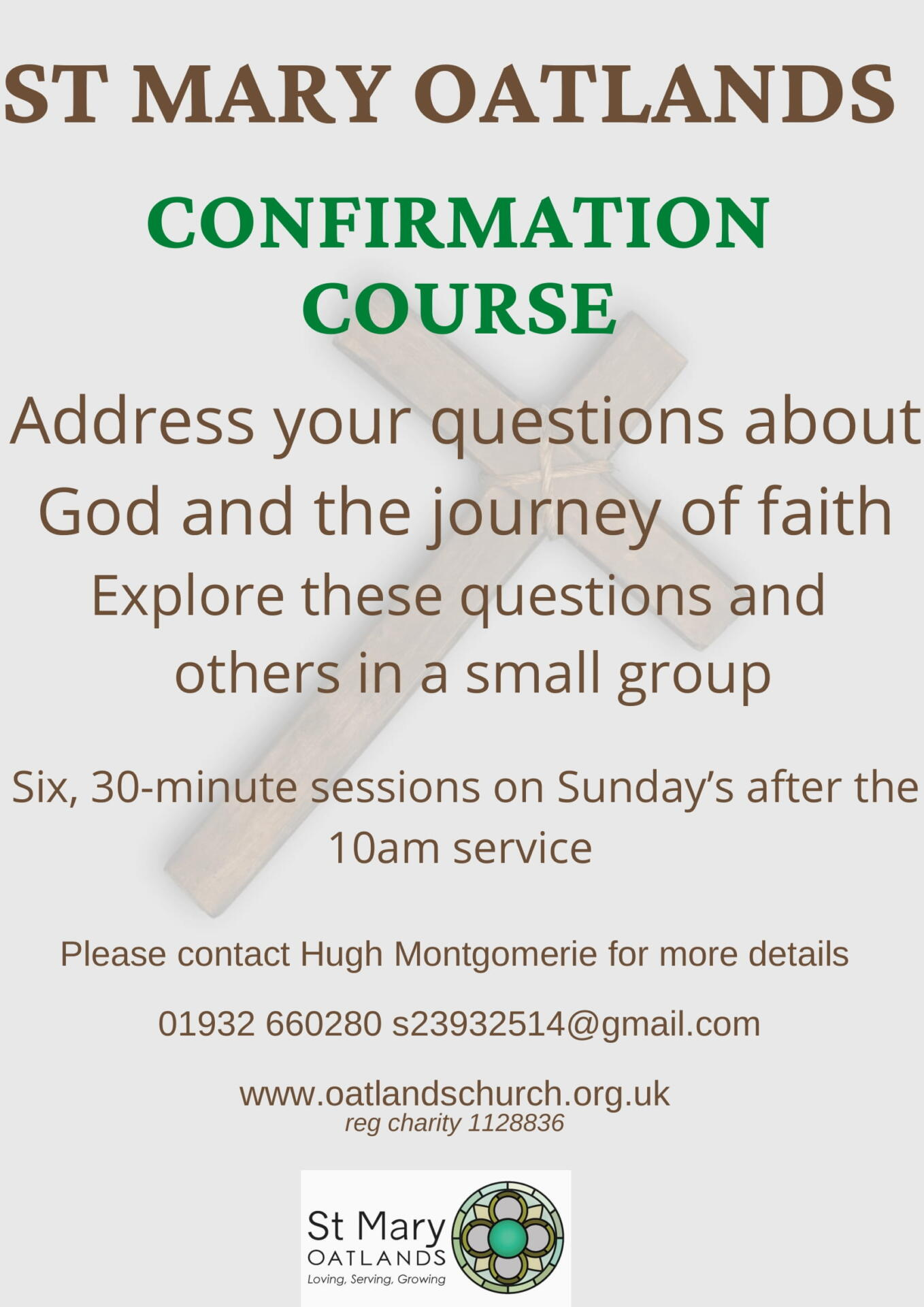 Confirmation Course @ St Mary Oatlands | England | United Kingdom